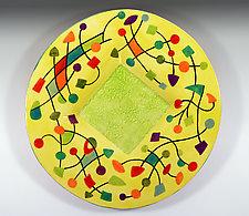 Abstract Small Platter by Rod  Hemming (Ceramic Platter)