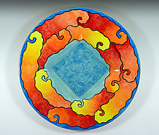 Yellow Submarine Small Platter by Rod  Hemming (Ceramic Platter)