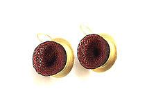 Gold Whirlpool Drop Earrings by Michal Lando (Gold & Nylon Earrings)