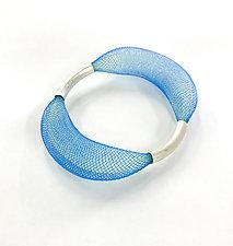 Loop Bangle by Michal Lando (Silver & Nylon Bracelet)