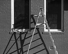 Ladder, NYC by Russ Martin (Black & White Photograph)