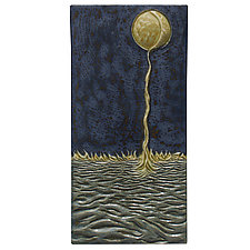 Moon Into Sea by Beth Sherman (Ceramic Wall Art)