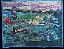 Harbor Grace NFLD by Pamela Allen (Fiber Wall Hanging)