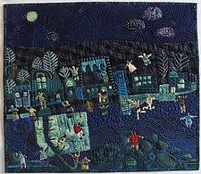 Dancing in the Moonlight by Pamela Allen (Fiber Wall Hanging)