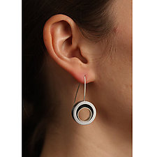 Open Swirl Earrings by Melissa Stiles (Metal Earrings)