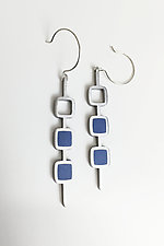 Three Drop Square Earrings by Melissa Stiles (Resin Earrings)