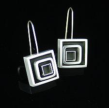 Swirl Square Earrings by Melissa Stiles (Aluminum & Resin Earrings)