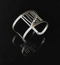 Grass Cuff Bracelet in Chrome by Melissa Stiles (Steel Bracelet)