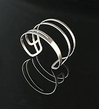 Swoop Cuff in Chrome by Melissa Stiles (Steel Bracelet)