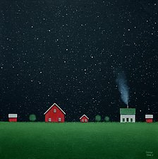 Under the Big Dipper II by Sharon France (Acrylic Painting)
