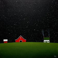Farm Under the Big Dipper by Sharon France (Acrylic Painting)