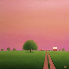 Lane to the Old Farm by Sharon France (Acrylic Painting)