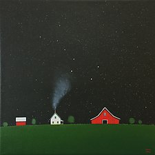 Under the Big Dipper V by Sharon France (Acrylic Painting)