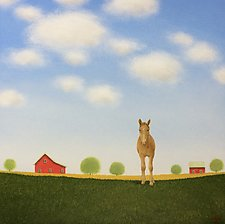 In a Summer Pasture by Sharon France (Acrylic Painting)