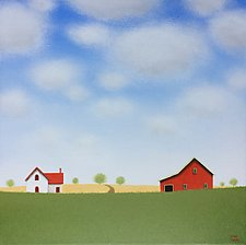 Old Farm in Summer by Sharon France (Acrylic Painting)