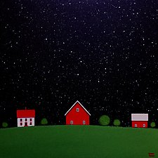 Under the Big Dipper VI by Sharon France (Acrylic Painting)