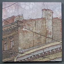 Piter's Rooftops 1 by Natalya Khorover Aikens (Fiber Wall Hanging)