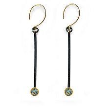 Sapphire Shadow Branch Earrings by Susan Crow (Silver & Stone Earrings)
