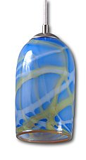 Milky Way Pendant Light in Blue by Rebecca Zhukov (Art Glass Pendant Lamp)
