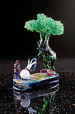 Take Me For a Walk by Paul Labrie (Art Glass Sculpture)