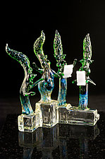 The Asparagus Quartet Chorus by Paul Labrie (Art Glass Sculpture)