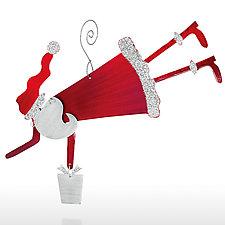 Here Comes Santa Claus by Sondra Gerber (Metal Ornament)