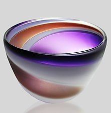 Swirl Bowl by Mariel Waddell and Alexi Hunter (Art Glass Bowl)