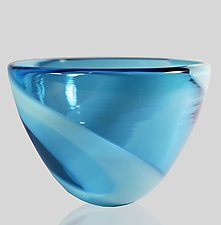 Swirl Bowl by Mariel Waddell and Alexi Hunter (Art Glass Bowl)