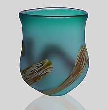 Root Vase by Mariel Waddell and Alexi Hunter (Art Glass Vase)