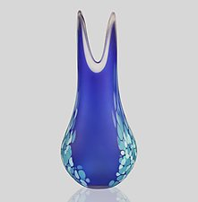 Medium Frit Flava Vase by Mariel Waddell and Alexi Hunter (Art Glass Vase)