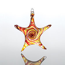 Sand Star by Mariel Waddell and Alexi Hunter (Art Glass Ornament)