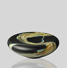 Root Sunk Bowl in Medium by Mariel Waddell and Alexi Hunter (Art Glass Bowl)