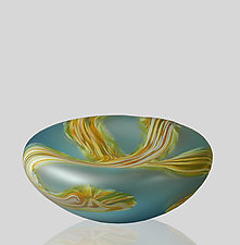 Root Sunk Bowl in Large by Mariel Waddell and Alexi Hunter (Art Glass Bowl)