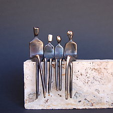Family of Four by Yenny Cocq (Bronze Sculpture)