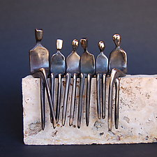 Family of Six by Yenny Cocq (Bronze Sculpture)