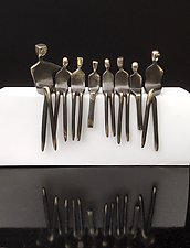 Family of Eight by Yenny Cocq (Bronze Sculpture)