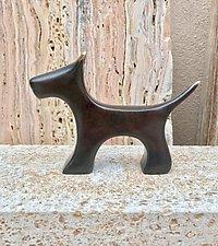 Bronze Terrier by Yenny Cocq (Metal Sculpture)