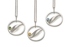 Birthstone Pendants in Silver by Theresa Kwong (Silver & Stone Necklace)
