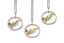 Birthstone Pendants in Gold & Silver by Theresa Kwong (Gold & Silver Necklace)