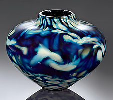 Cloud Series Urn by Jacob Pfeifer (Art Glass Vase)