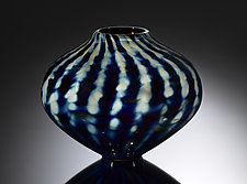 Optic Stripe Treasure Series Urn by Jacob Pfeifer (Art Glass Vase)