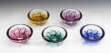 Swedish Shell Bowl by Jacob Pfeifer (Art Glass Bowl)
