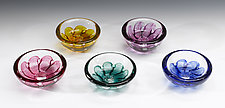 Swedish Shell Bowl by Jacob Pfeifer (Art Glass Bowl)