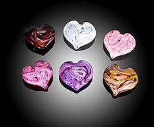 Paperweight Heart by Jacob Pfeifer (Art Glass Paperweight)