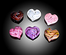 Paperweight Heart by Jacob Pfeifer (Art Glass Paperweight)