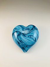 Heart Paperweight by Jacob Pfeifer (Art Glass Paperweight)