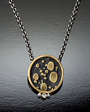 Black and Gold Necklace by Patty Schwegmann (Gold, Silver & Stone Necklace)