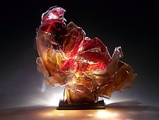 Red Brimstone by Caleb Nichols (Art Glass Sculpture)