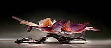 Purple Belladonna by Caleb Nichols (Art Glass Sculpture)