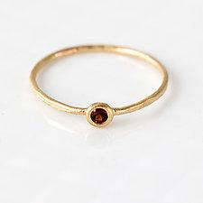 Garnet Ring by Melanie Casey (Gold & Stone Ring)